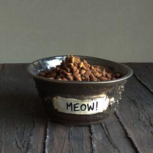 meow bakırox porselen mama kabı