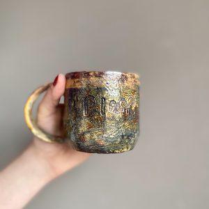 pınar el yapımı seramik kupa